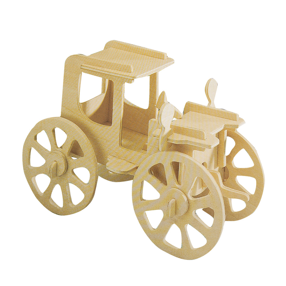 Children Wooden Classic Car Model Woodcraft Construction Kit Assemble Toy