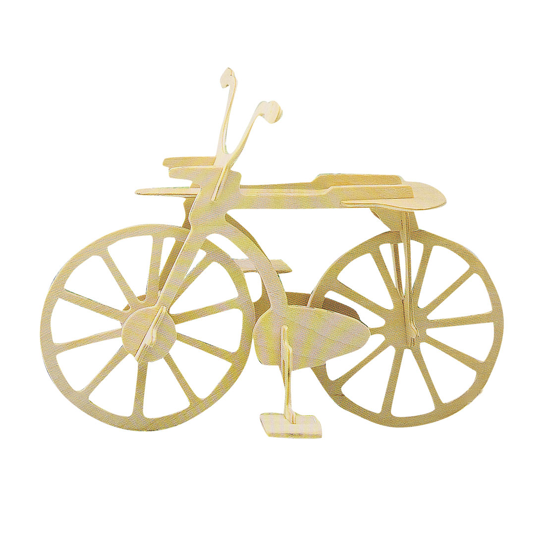 Children Bicycle Style Wooden Construction Kit Puzzled Assemble Toy