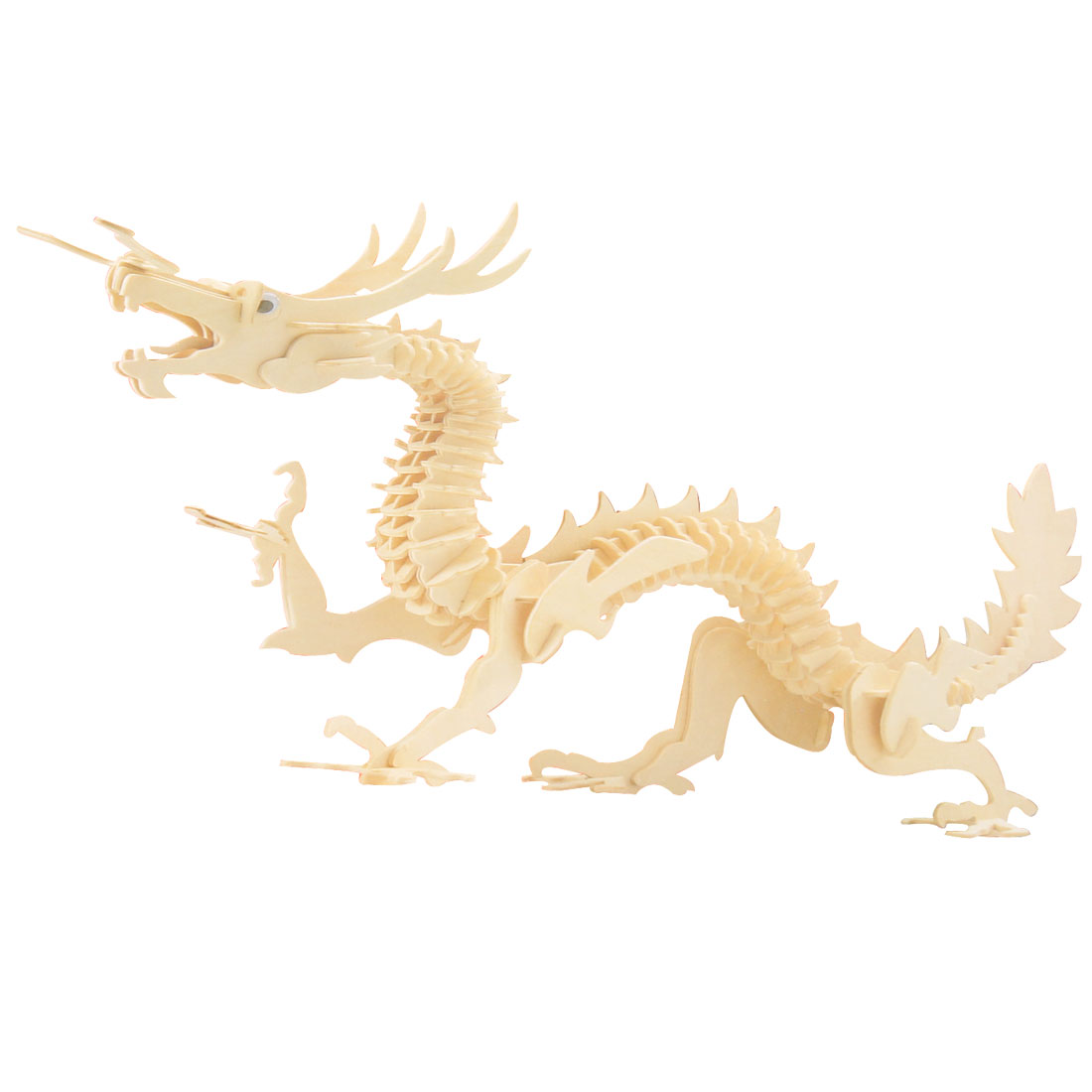 Puzzled DIY 3D Wooden Dragon Model Construction Kit Puzzle Toy Gift