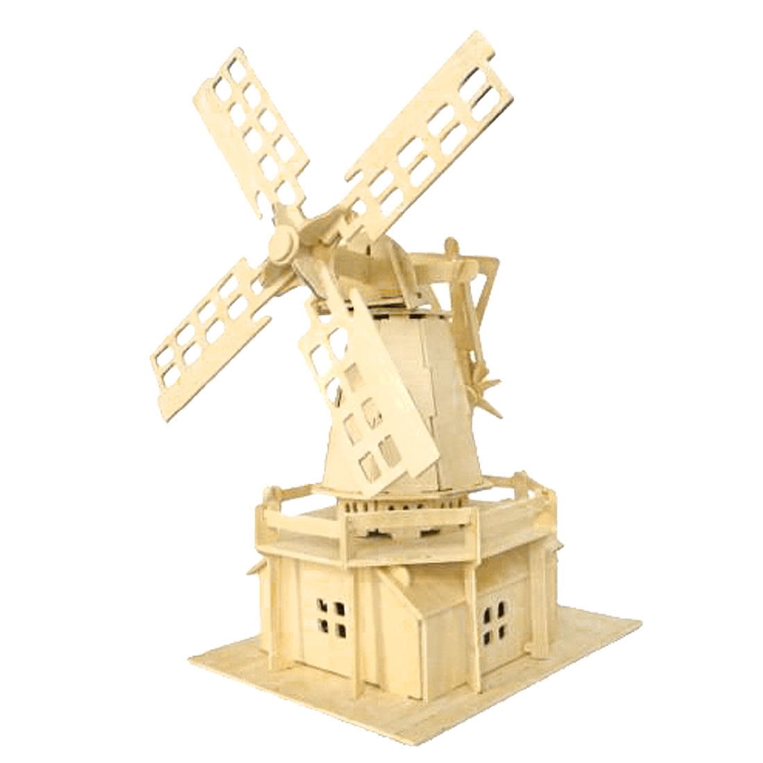 Puzzled 3D Wooden Dutch Windmill Model Woodcraft Construction Kit