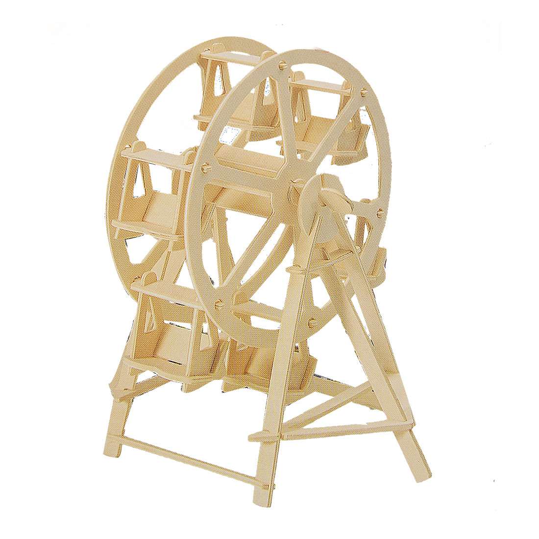 Ferris Wheel Design Wooden Construction Kit Woodcraft Assemble Puzzle Toy