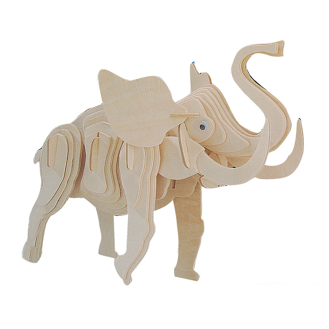 3D Woodcraft Elephant Model Wooden Construction Kit Puzzle Toy Gift