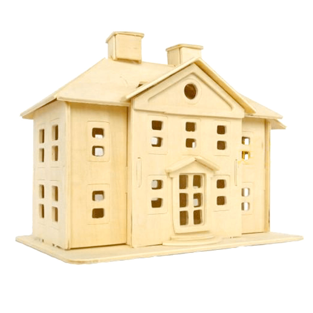 DIY Lover 3D Wooden Country Mansion Woodcraft Construction Kit Puzzle Toy