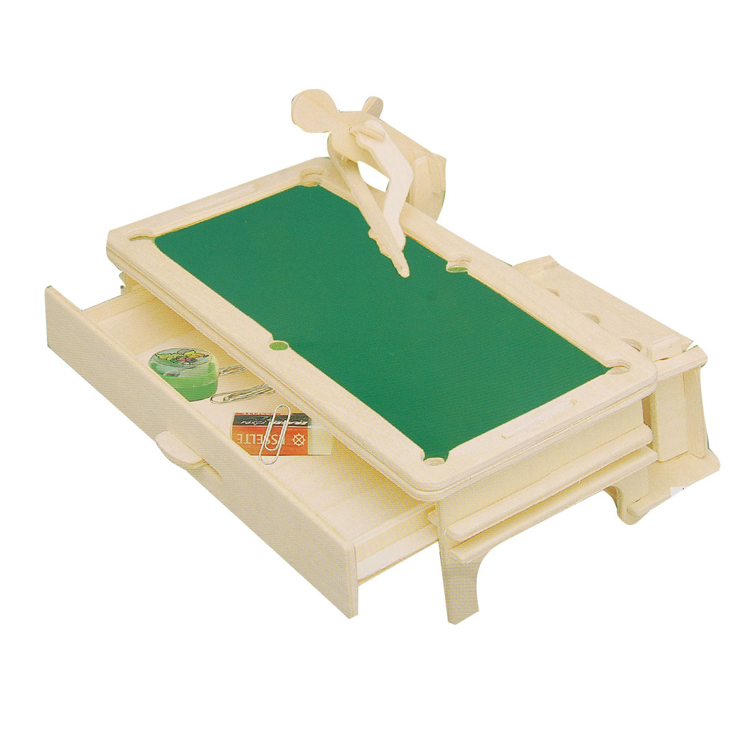 Wooden Pen Holder Snooker Pool Design Construction Kit Woodcraft Puzzle Toy