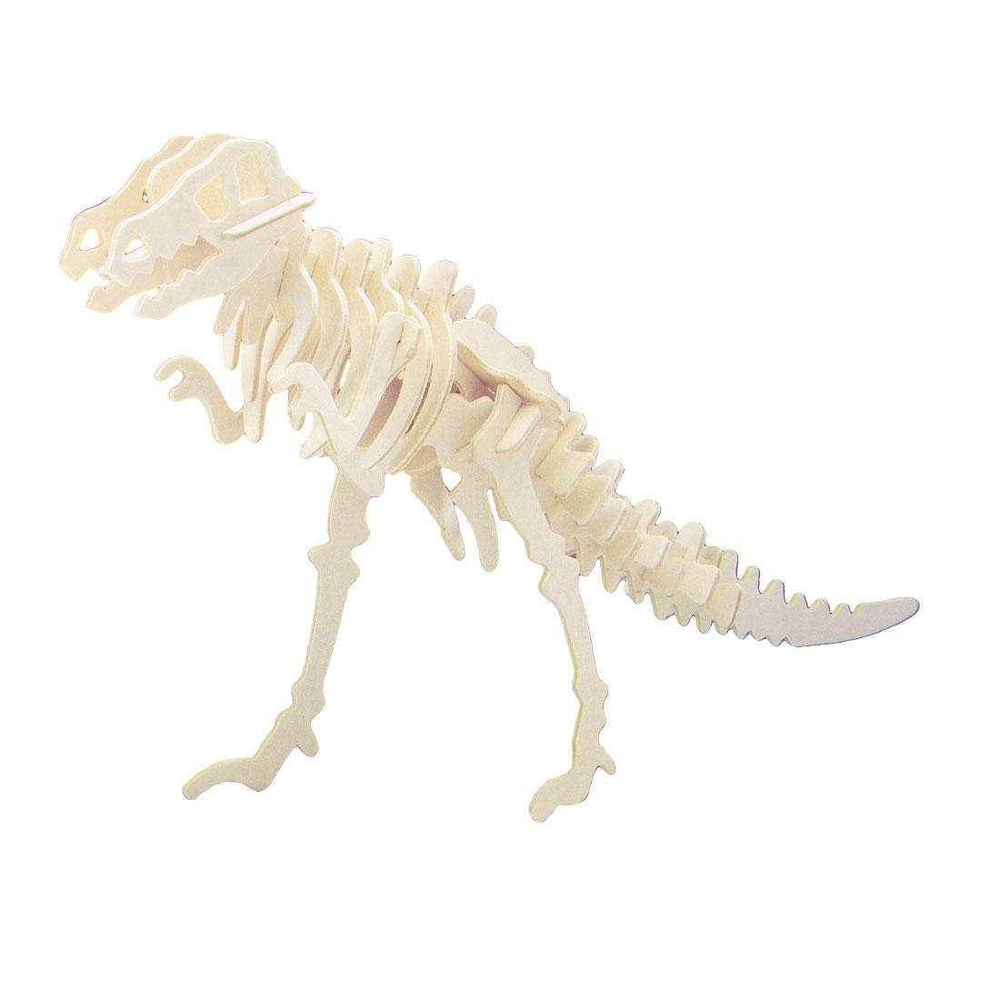 Children Brain DIY Wooden Puzzle Toy Tyrannosaurus Rex Woodcraft Kit