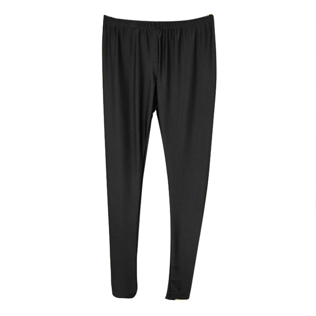 Ladies Black Elastic Waist Stretchy Footless Skinny Leggings Pants XS