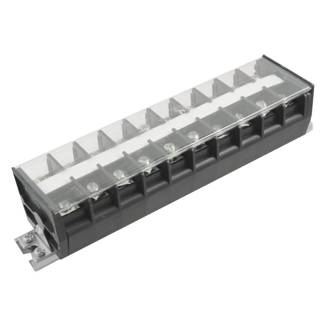 660V 60A 10 Position Aluminum DIN Rail Base Screw Terminal Barrier Block