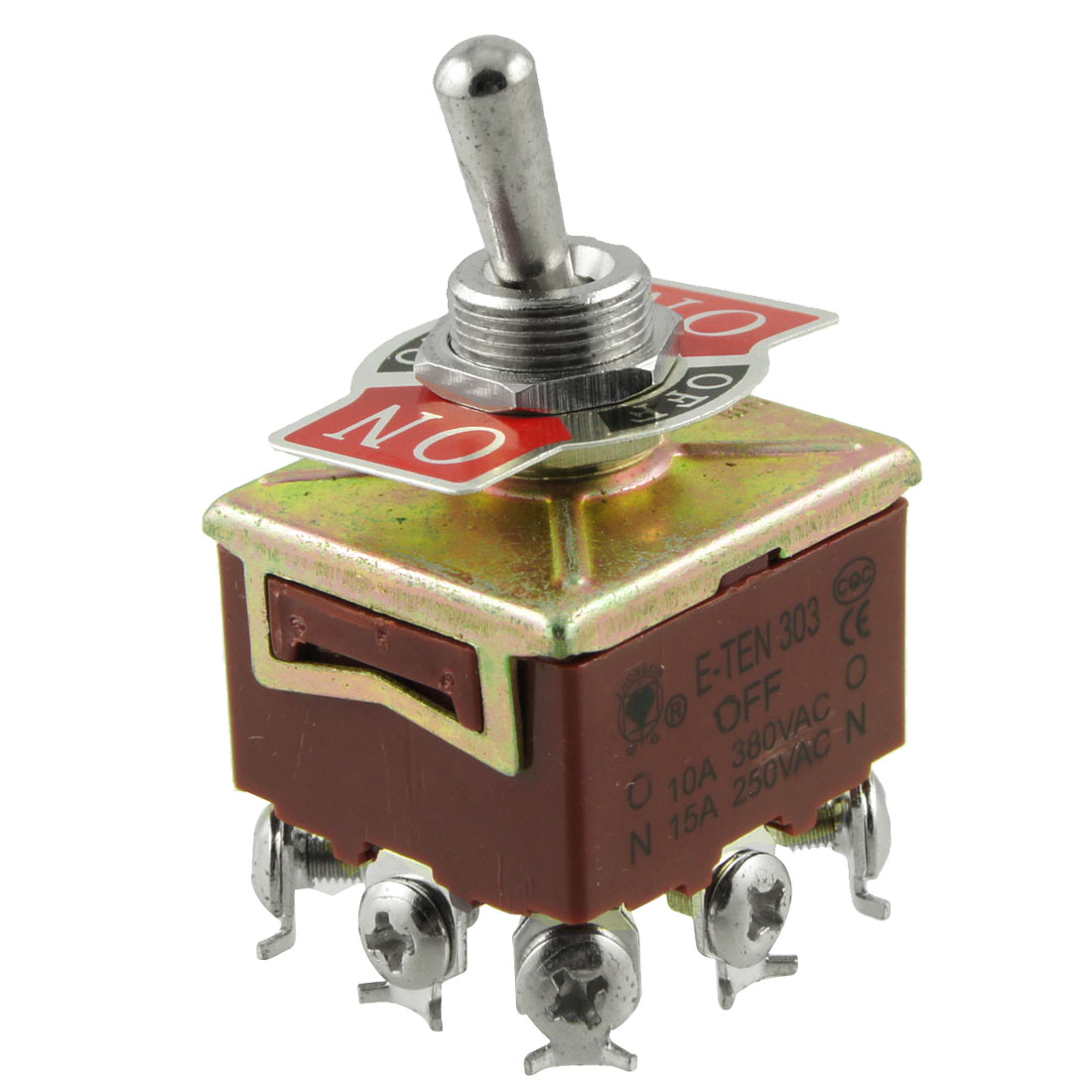 3PDT On/Off/On 3 Postion 9 Screw Terminals Toggle Switch AC 250V 15A
