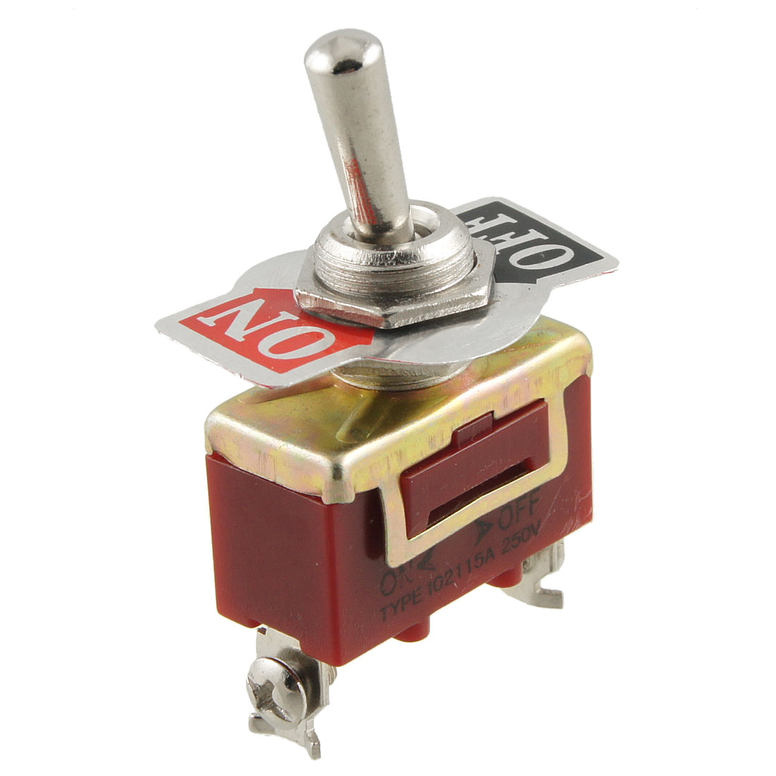 On-Off Position 2 Terminals SPST Toggle Switch AC 250V 15A