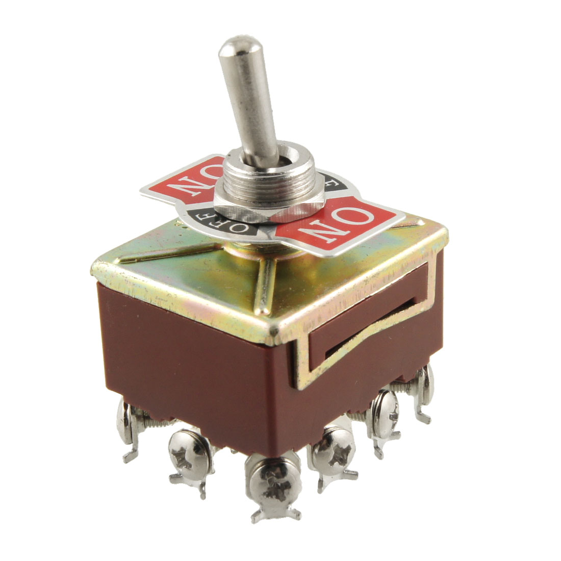 AC 15A/250V 10A/380V Screw Terminals On/Off/On 4PDT Toggle Switch