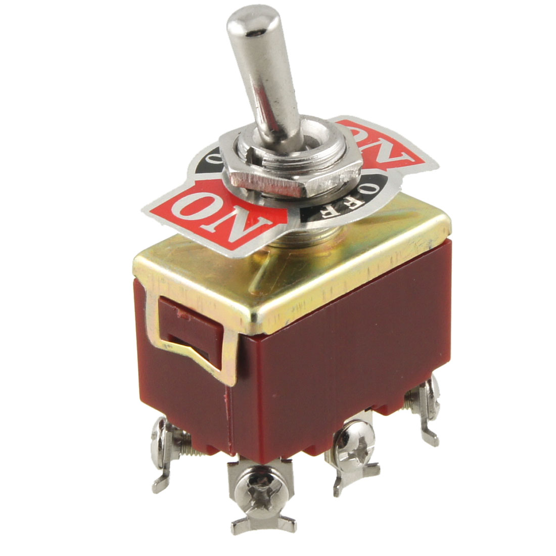 On/Off/On 3 Position DPDT 6 Screw Terminals Toggle Switch AC 250V 15A