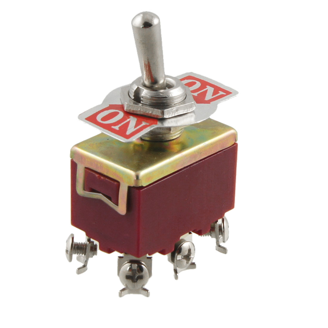 AC 250V 15A 6 Screw Terminals On-On 2 Position DPDT Toggle Switch