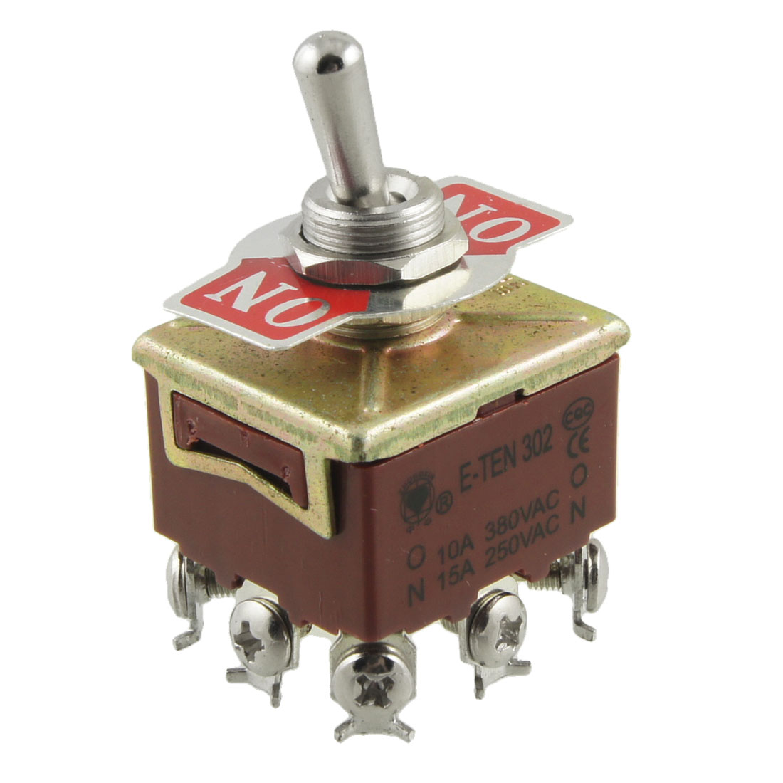 3PDT On/On 2 Position Toggle Switch AC 15A/250V 10A/380V