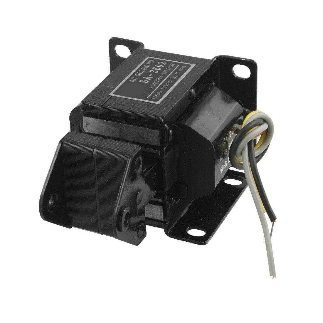 20mm Stroke Tractive Electromagnet AC Solenoid Lift 4Kg 220V