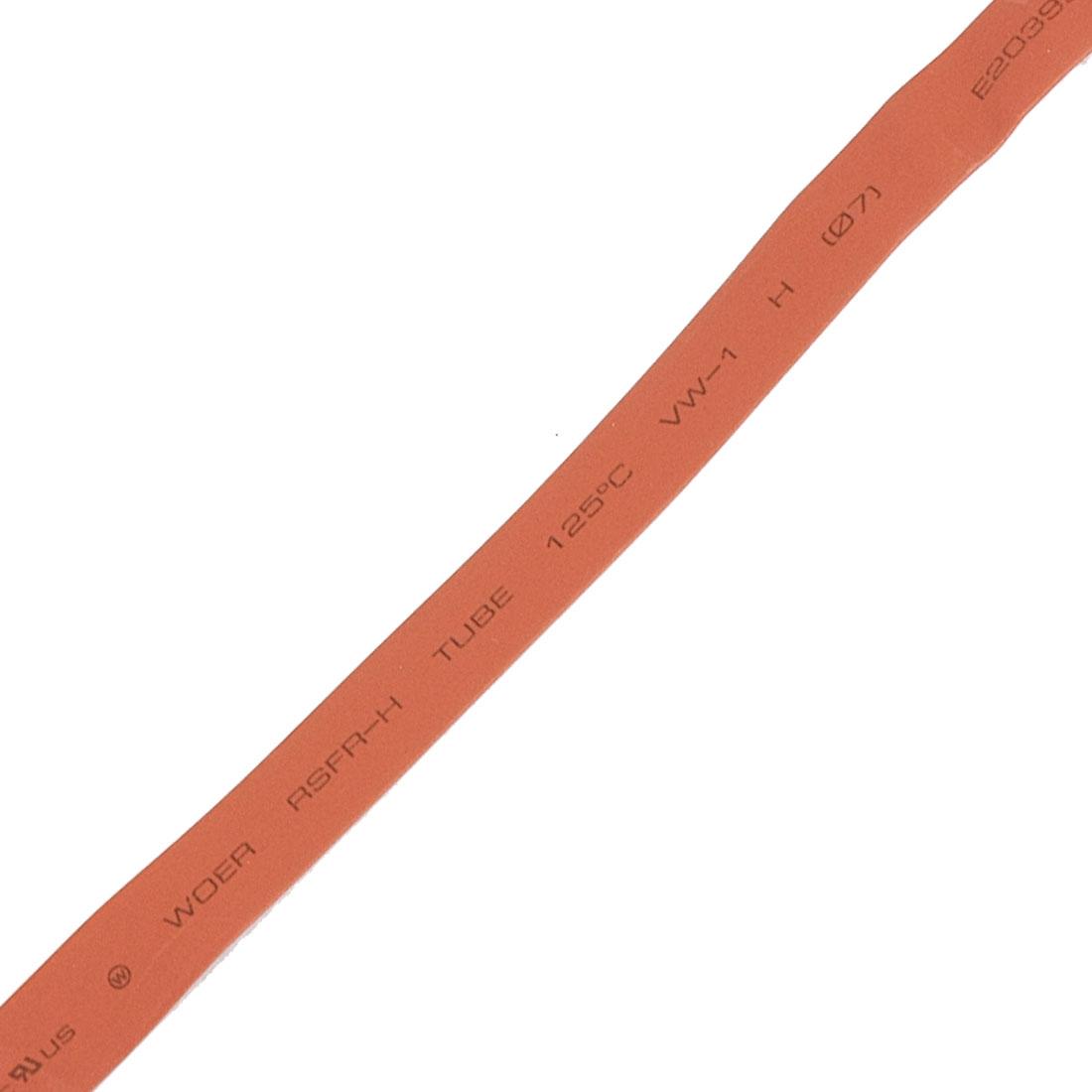 7mm Diameter Ratio 2:1 Heat Shrinking Shrinkable Tube Red 8M