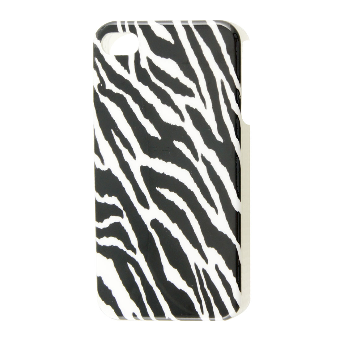 Plastic White Black Zebra Print IMD Back Shell for iPhone 4 4G 4S 4GS