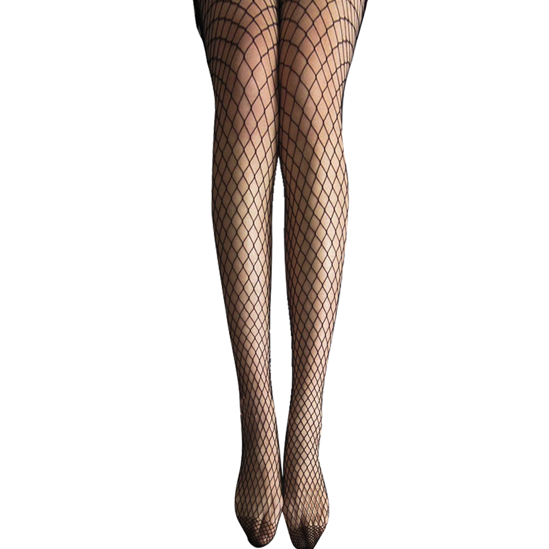 Ladies Sexy Black Big Fishnet Pantyhose Leggings Tights XS