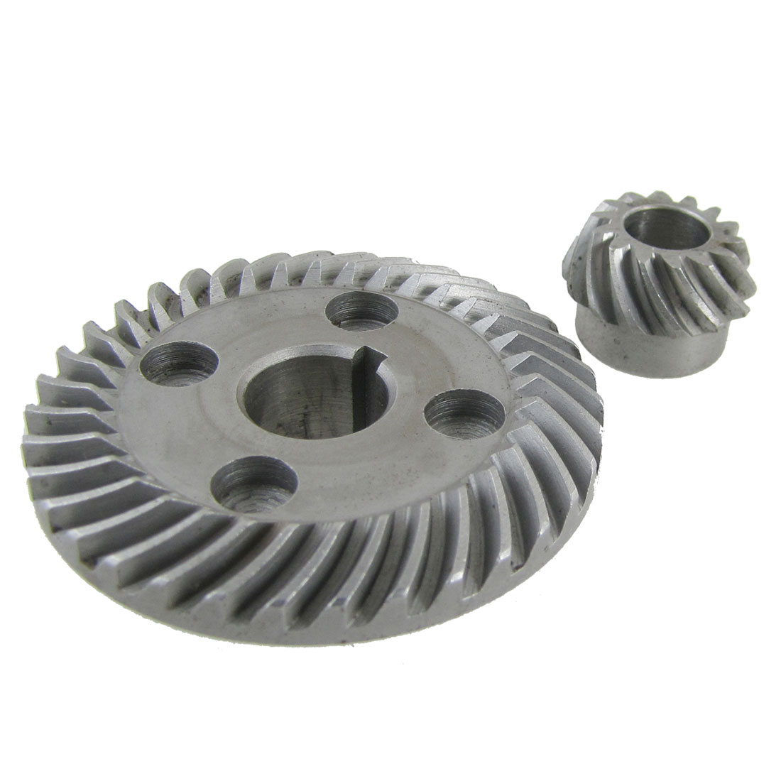 2 Pcs Angle Grinder Spiral Bevel Ring Pinion Gear Set for Hitachi 100
