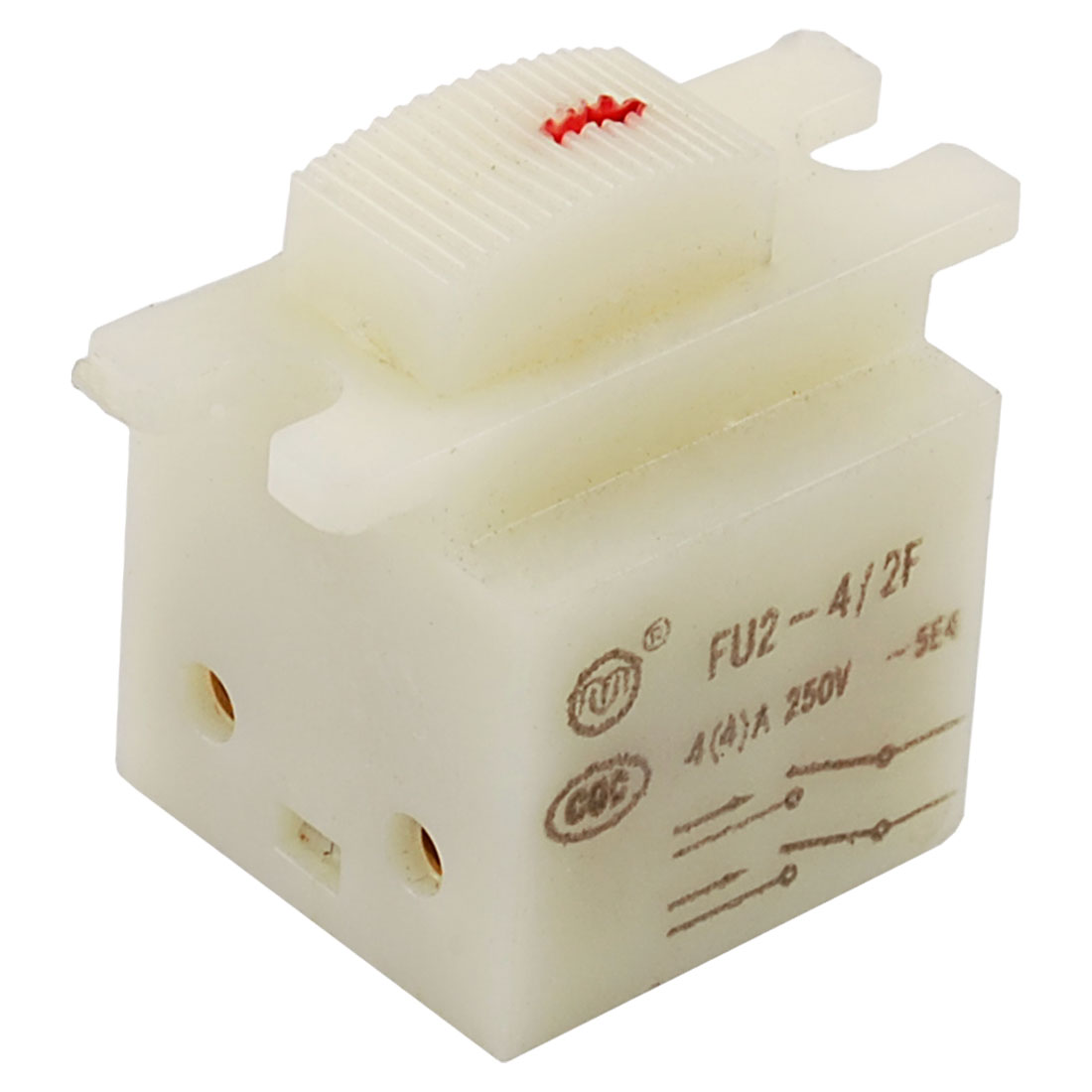 White 5E4 AC 250V 4A DPST ON-OFF Electric Grinder Power Tool Switch