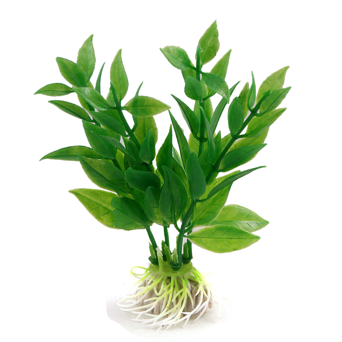 """10 Pcs Green Plastic Aquascaping Plant Decor 4.5"""" High for Aquarium"""