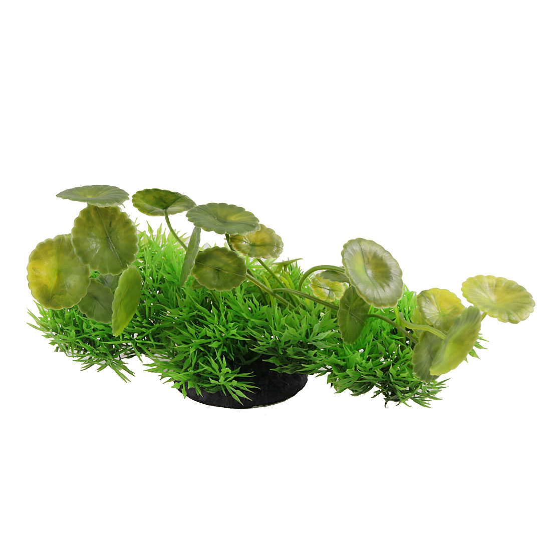 "Aquarium Emulational Green Round Leaf Aquatic Plants Ornament 7.7"" Width"