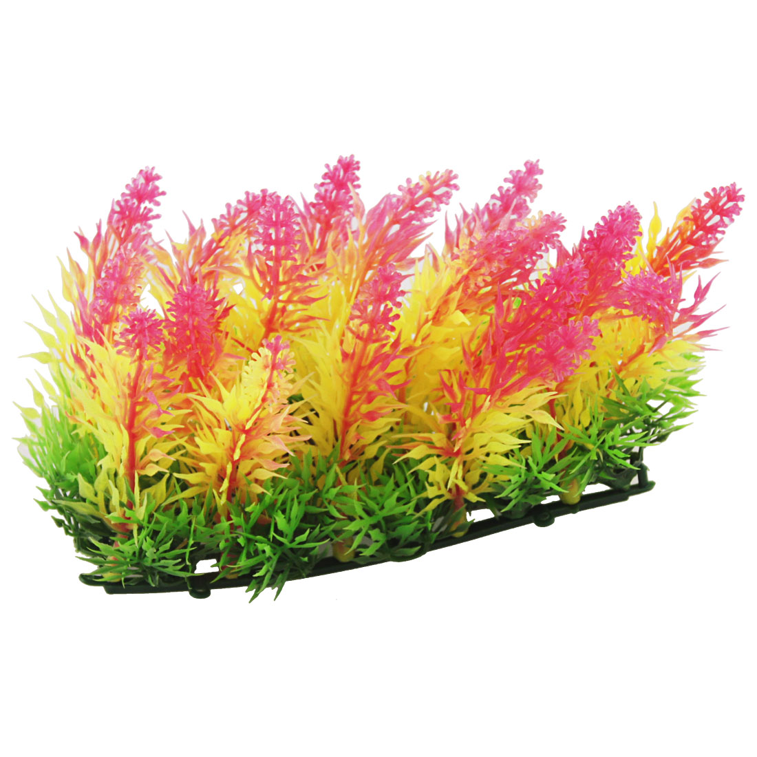 Fish Tank Plastic Tri Colors Pointed Leaves Water Plant Lawn Ornament
