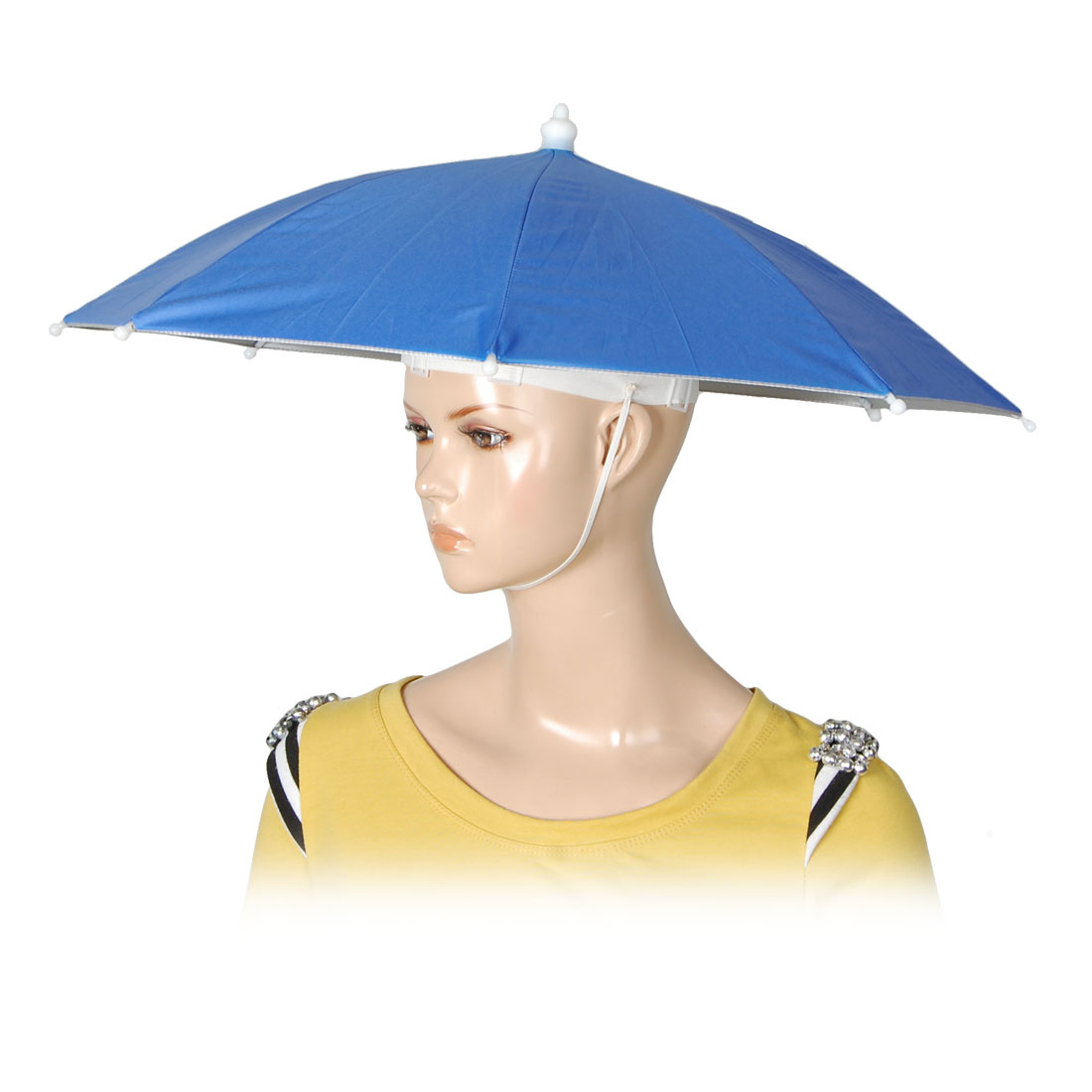 Portable Blue Outdoor Sports Fishing Umbrella Hat Headwear