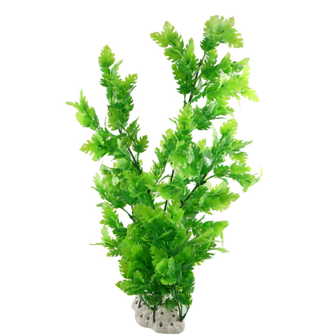 """Fish Tank Green Plastic Decorative Water Plant Grass 20"""""""