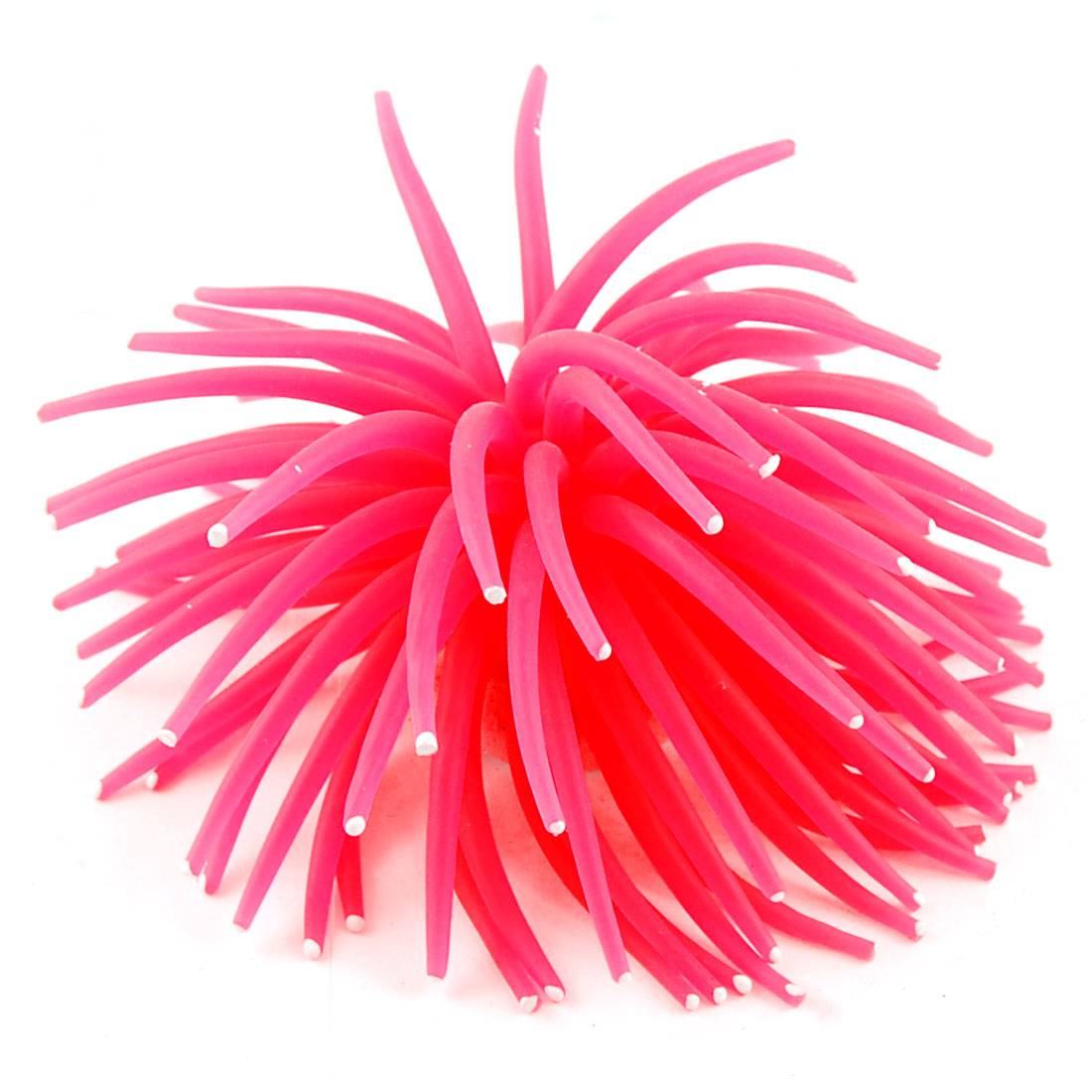 Aquarium Artificial Magenta Silicone Sea Anemone Ornament 5""