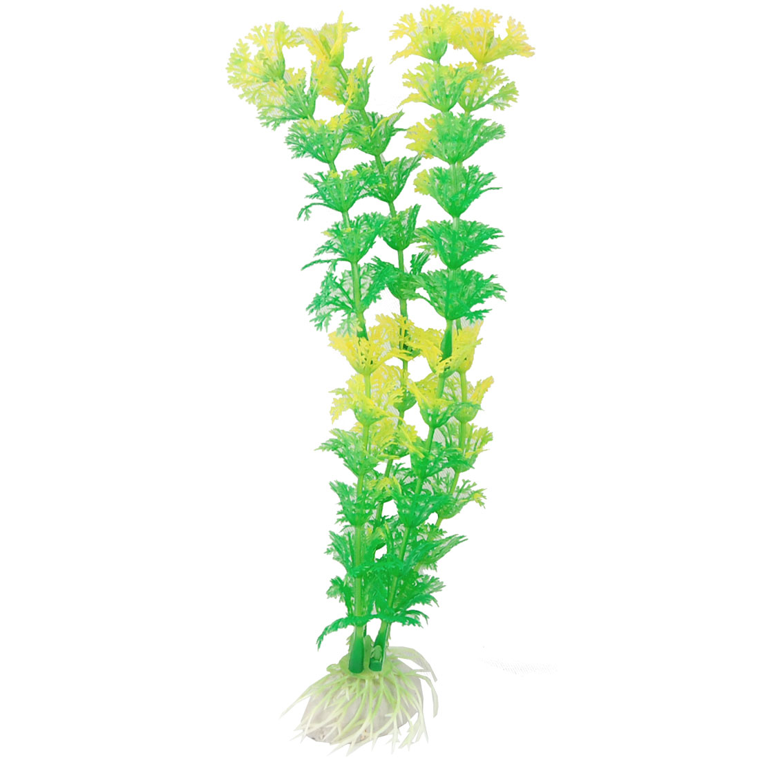 "8.5"" Height Green Plastic Snowflake Leaf Plants Ornament for Aquarium"