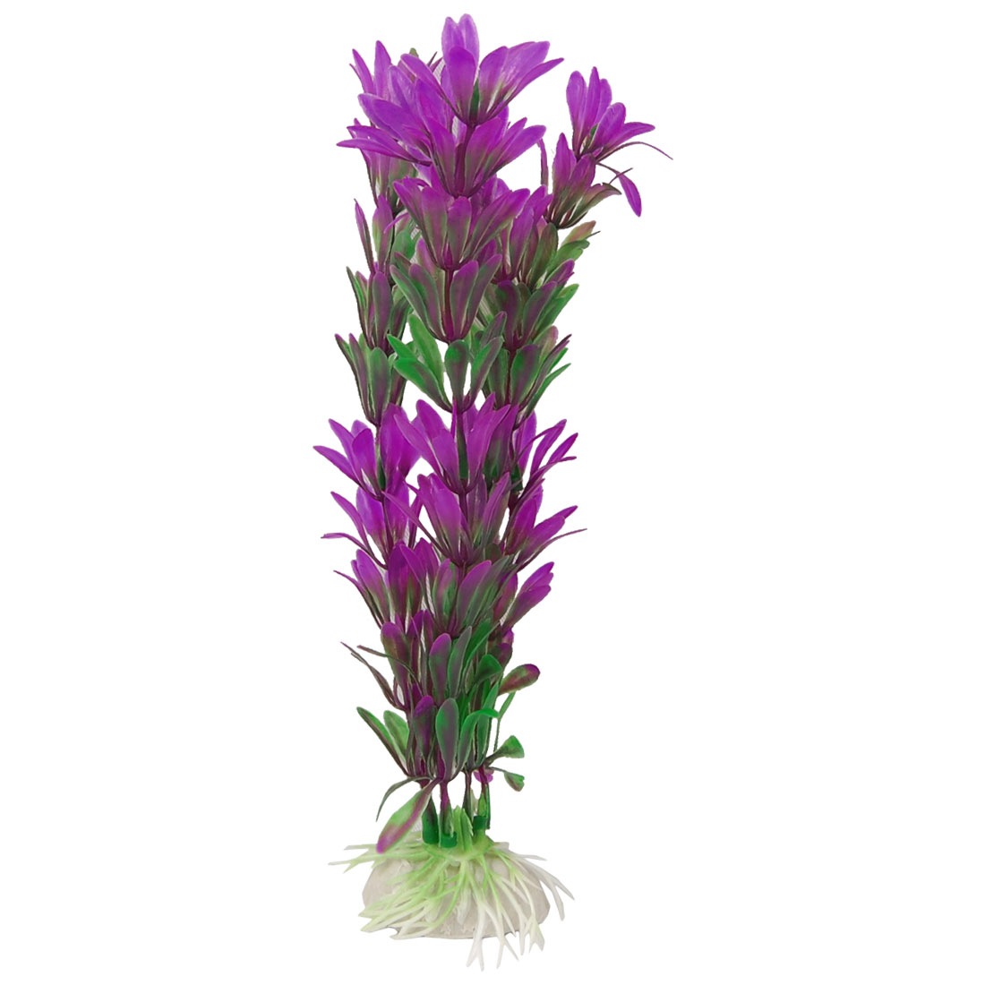 "8"" Height Artificial Green Purple Plastic Plants for Aquarium"