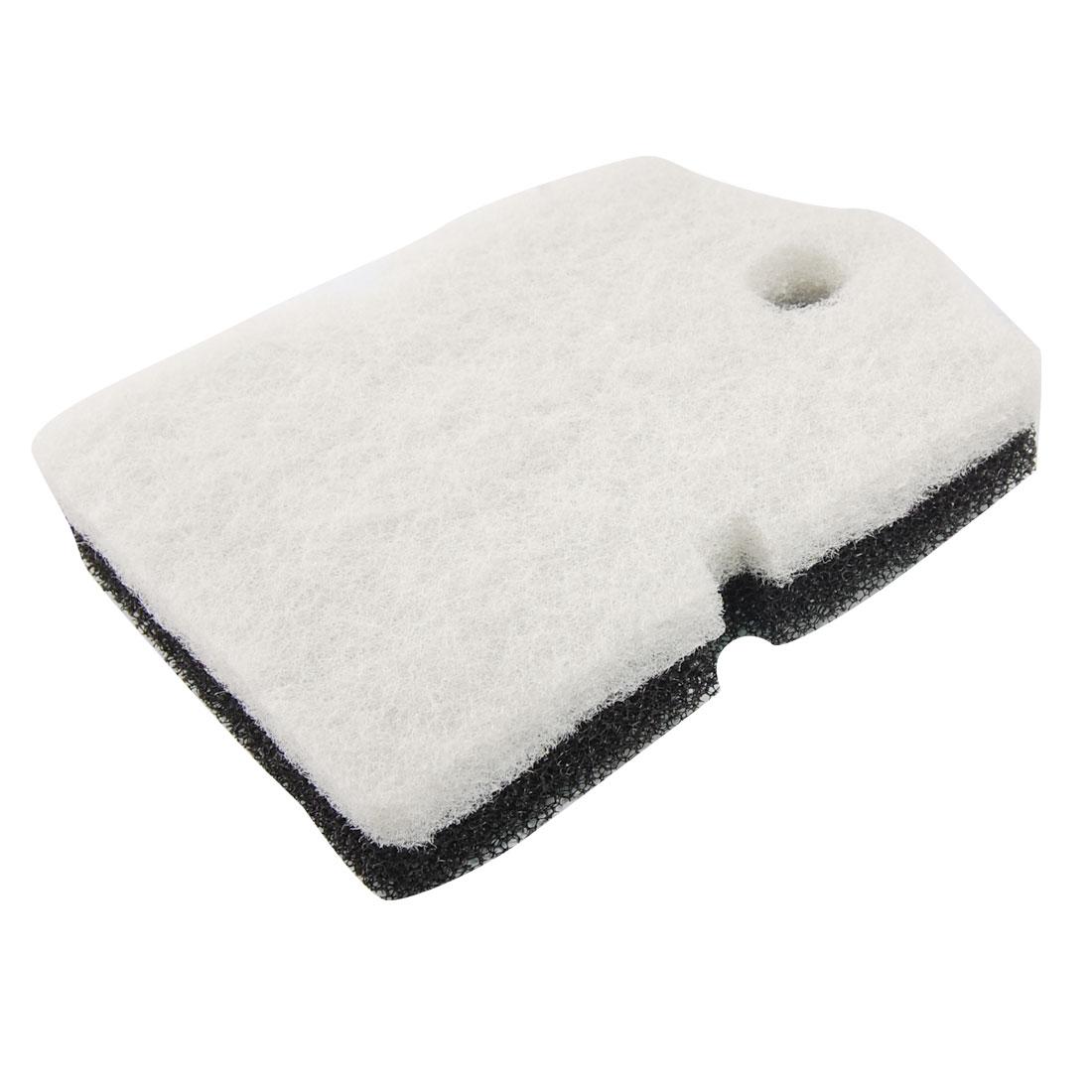 2 Pcs Aquarium Fish Tank Biochemical Filter Sponge Pad Black White