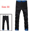 Mens Stylish Slim Fit Casual Pants Trousers Roll-UP Plaid Black W30