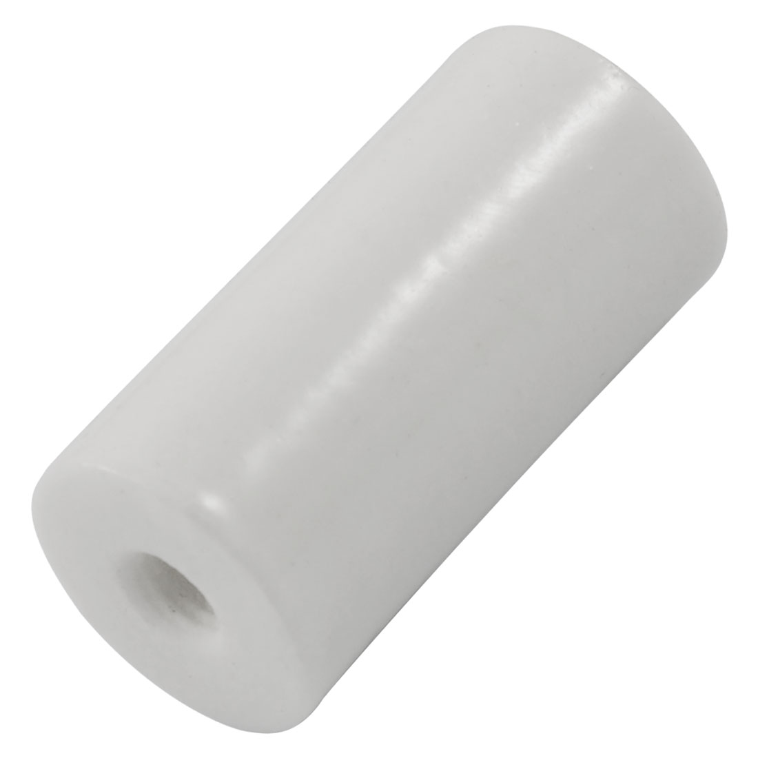 5.5mm Threaded 15mm Depth 40mm Long Stand Off Ceramic Insulator White