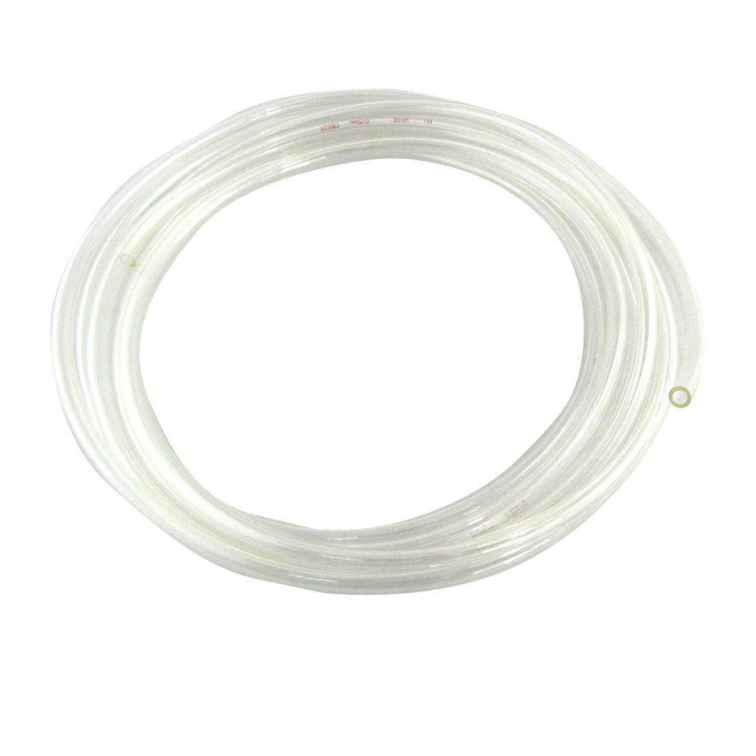 4M 13.1 Ft 8mm x 5mm Pneumatic PU Recoil Air Hose Tube Clear