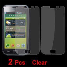 2 Pcs Anti-dust Clear LCD Screen Protector for Samsung i9008