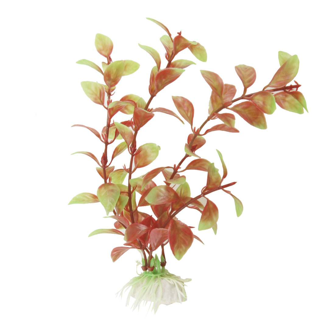 "Aquarium Red Green Plastic Water Plants Decoration 7.1"" Height"