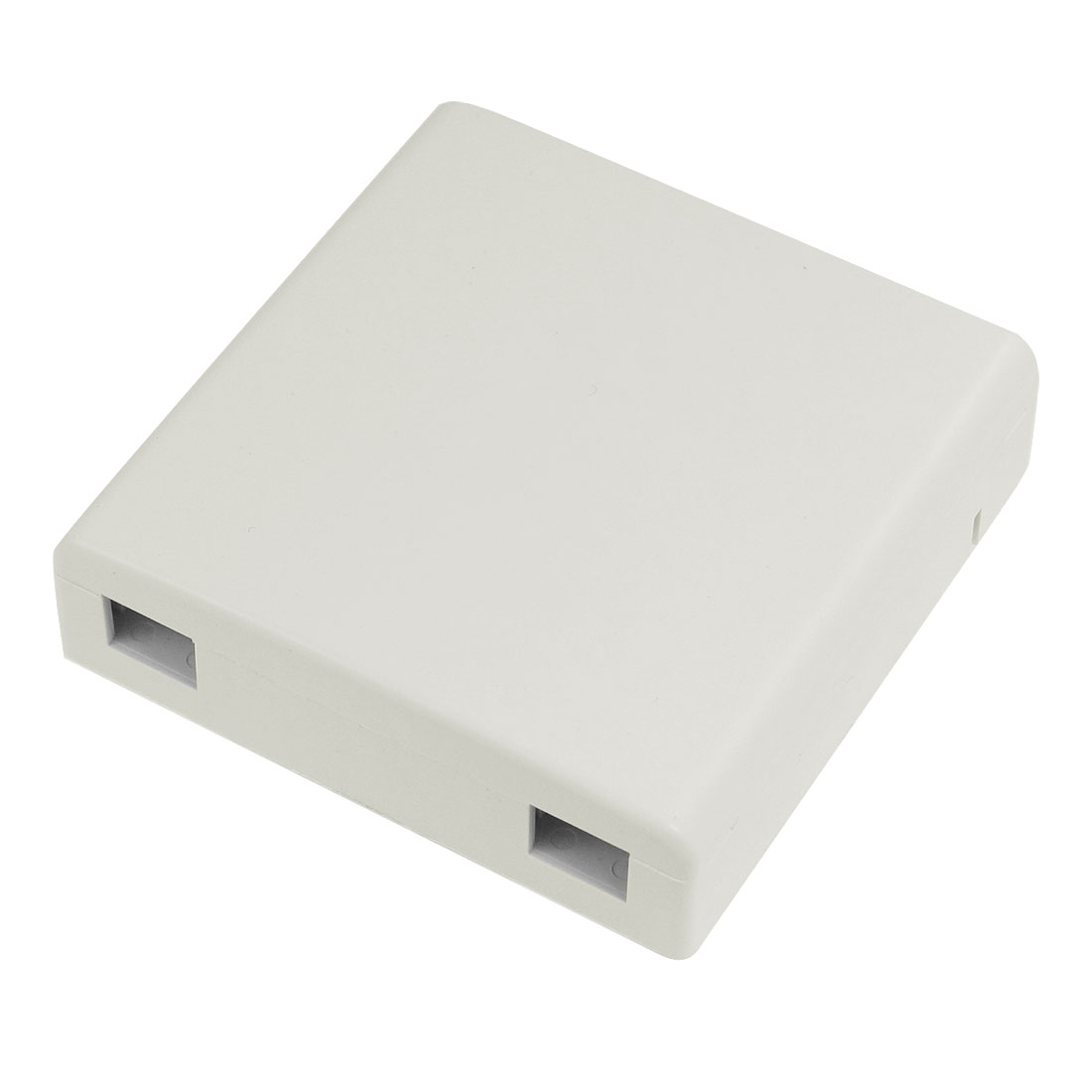 Square Plastic Shell 2 Holes Fiber Optic Terminal Box White