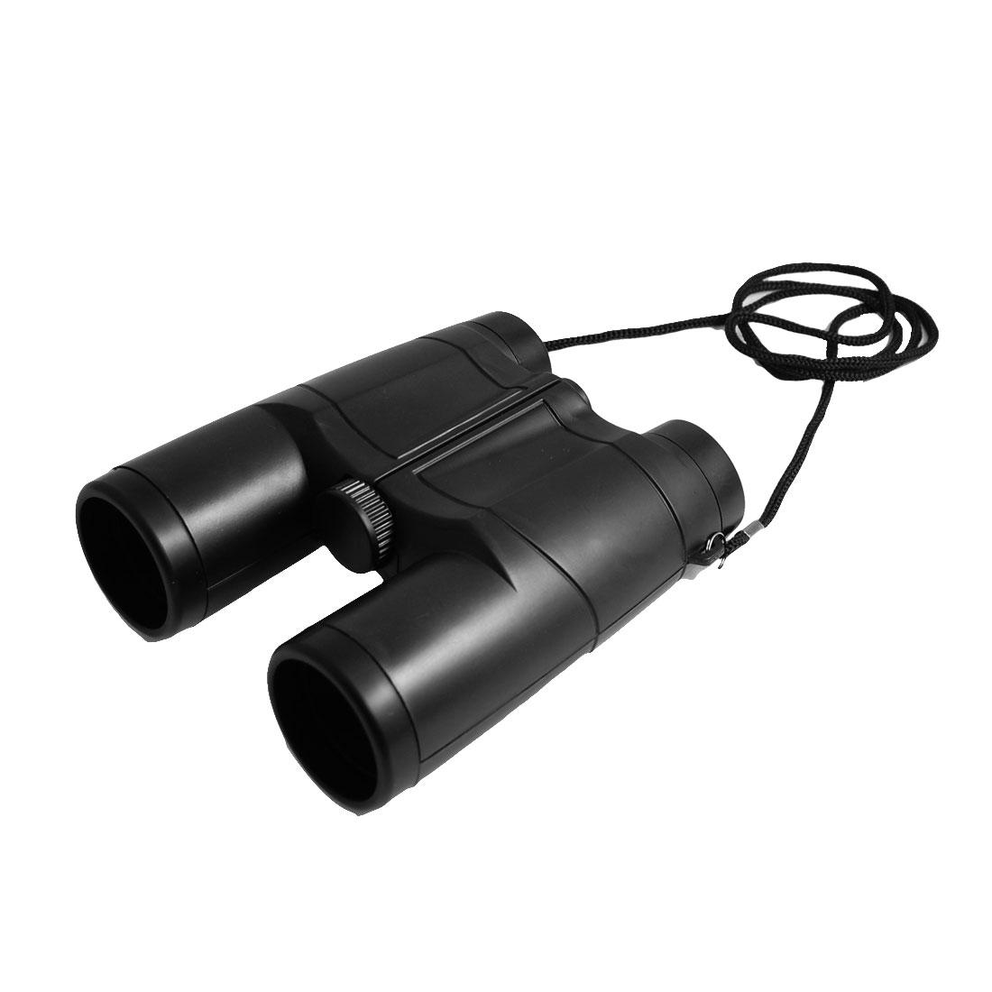 Black Plastic 35mm Lens 4X Folding Binoculars Telescope w String