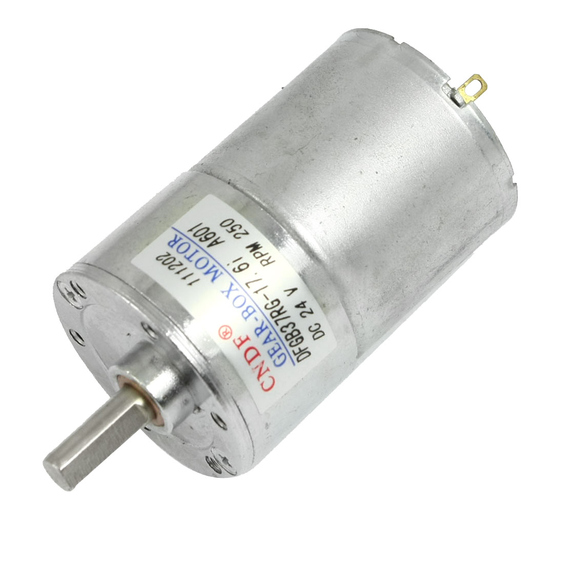 DC 24V 250 RPM 6mm Dia Shaft Magnetic Gearbox Electric Motor 37mm