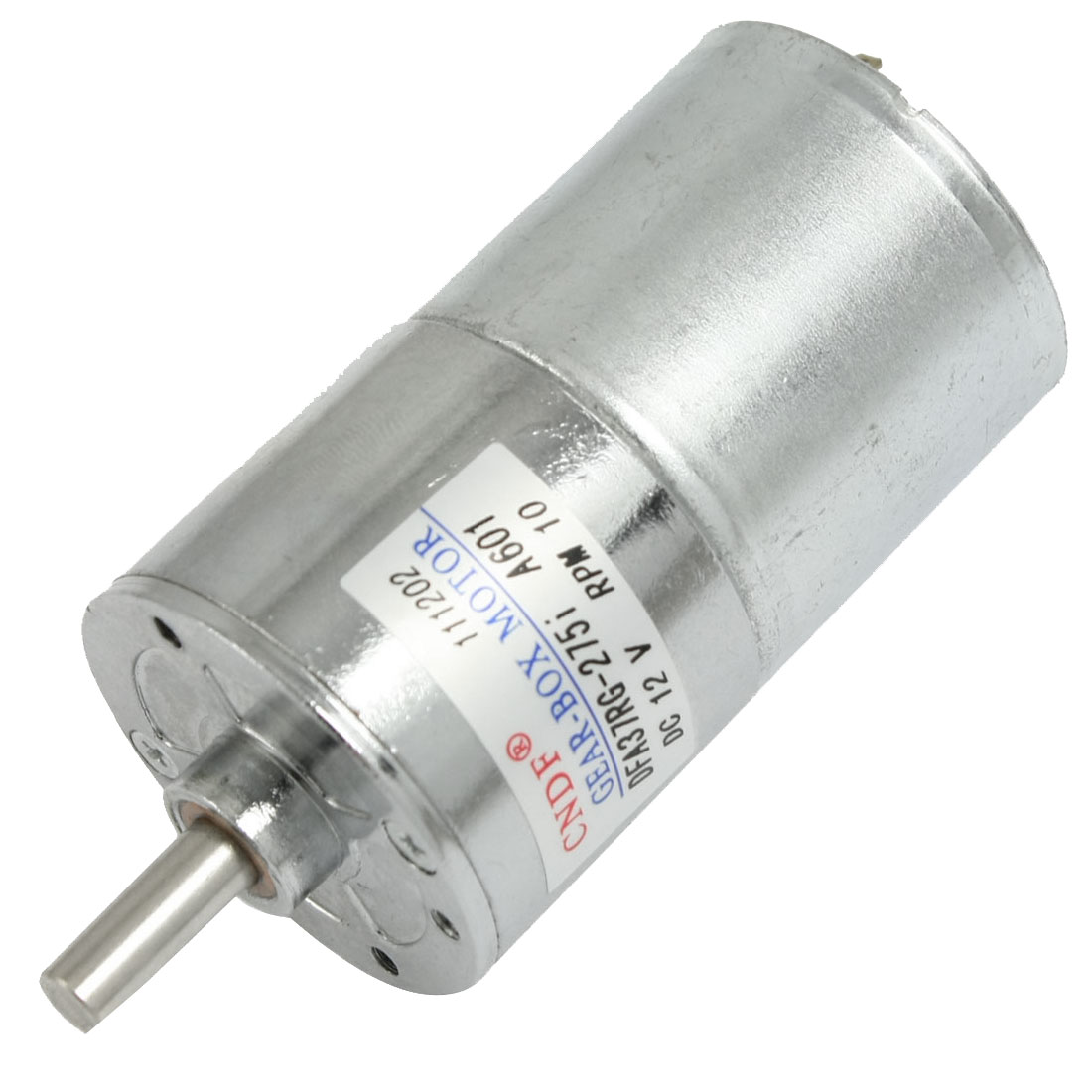 DC 12V 130mA 10RPM 15Kg-cm High Torque Permanent Magnetic DC Gear Motor