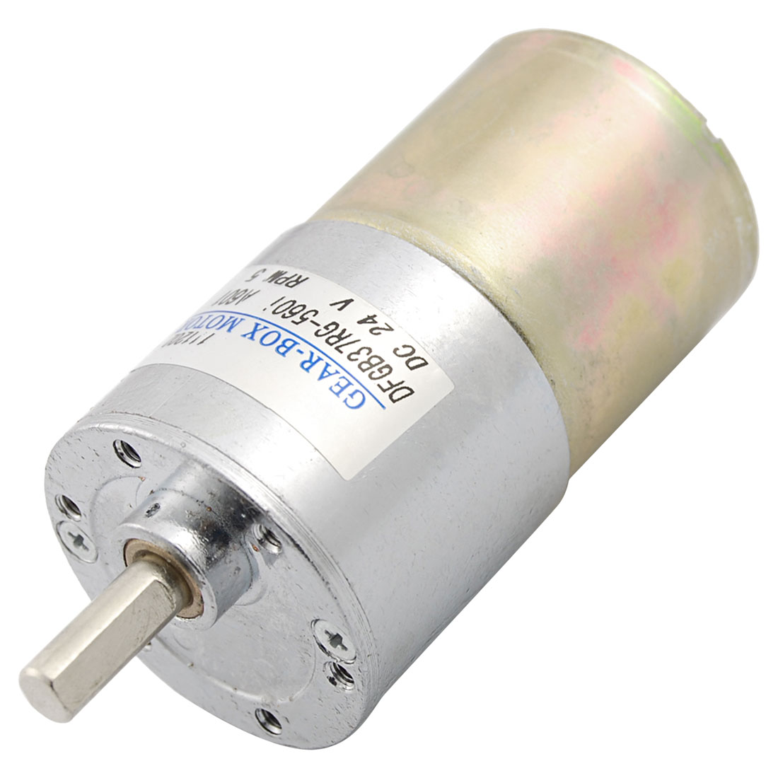 26kg.cm Torque 37mm Dia Magnetic Gear Box Motor 5 RPM 130mA 24V DC