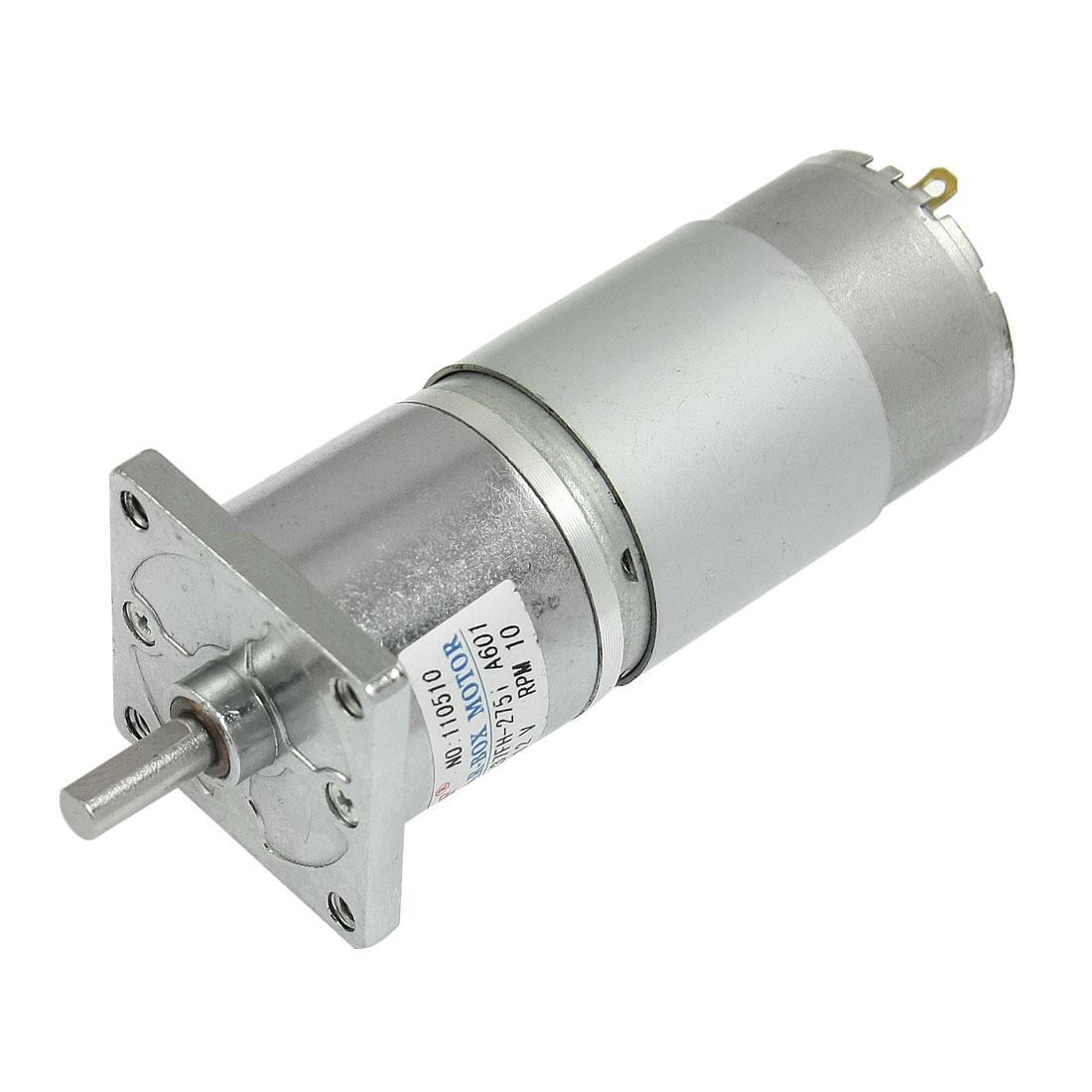 DC 12V 150mA 10RPM 20.9Kg-cm High Torque Permanent Magnetic DC Gear Motor
