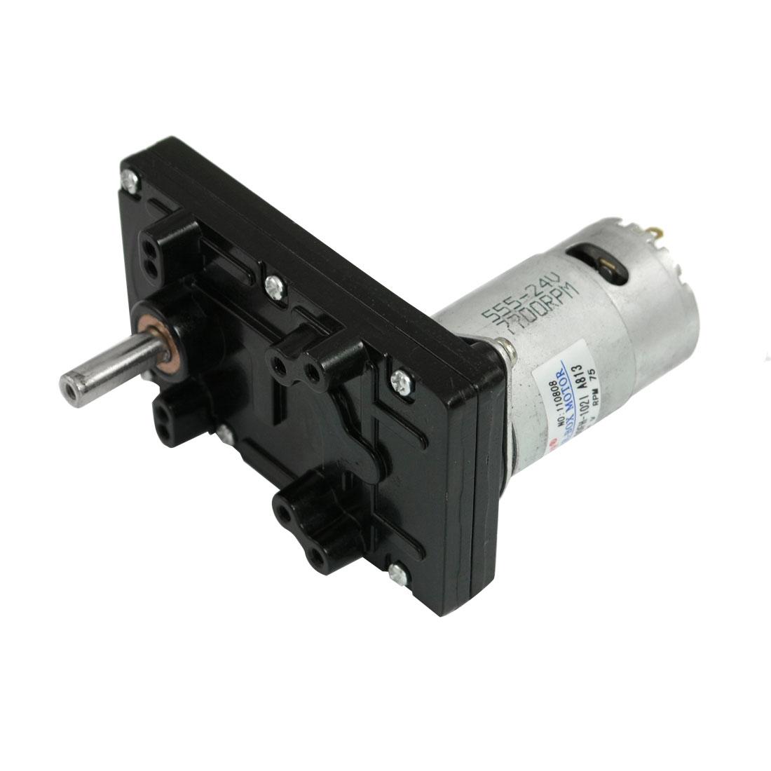 4.13kg.cm Torque 37mm Dia Magnetic Gear Box Motor 75 RPM 150mA 24V DC