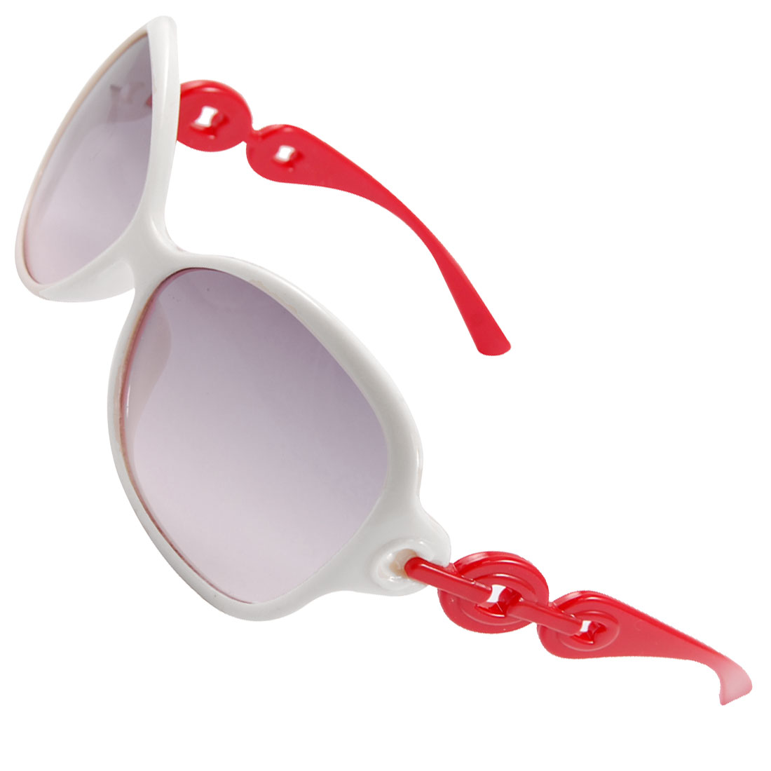 White Full Rim Rectangle Lens Beach Sunglasses Eyewear for Children