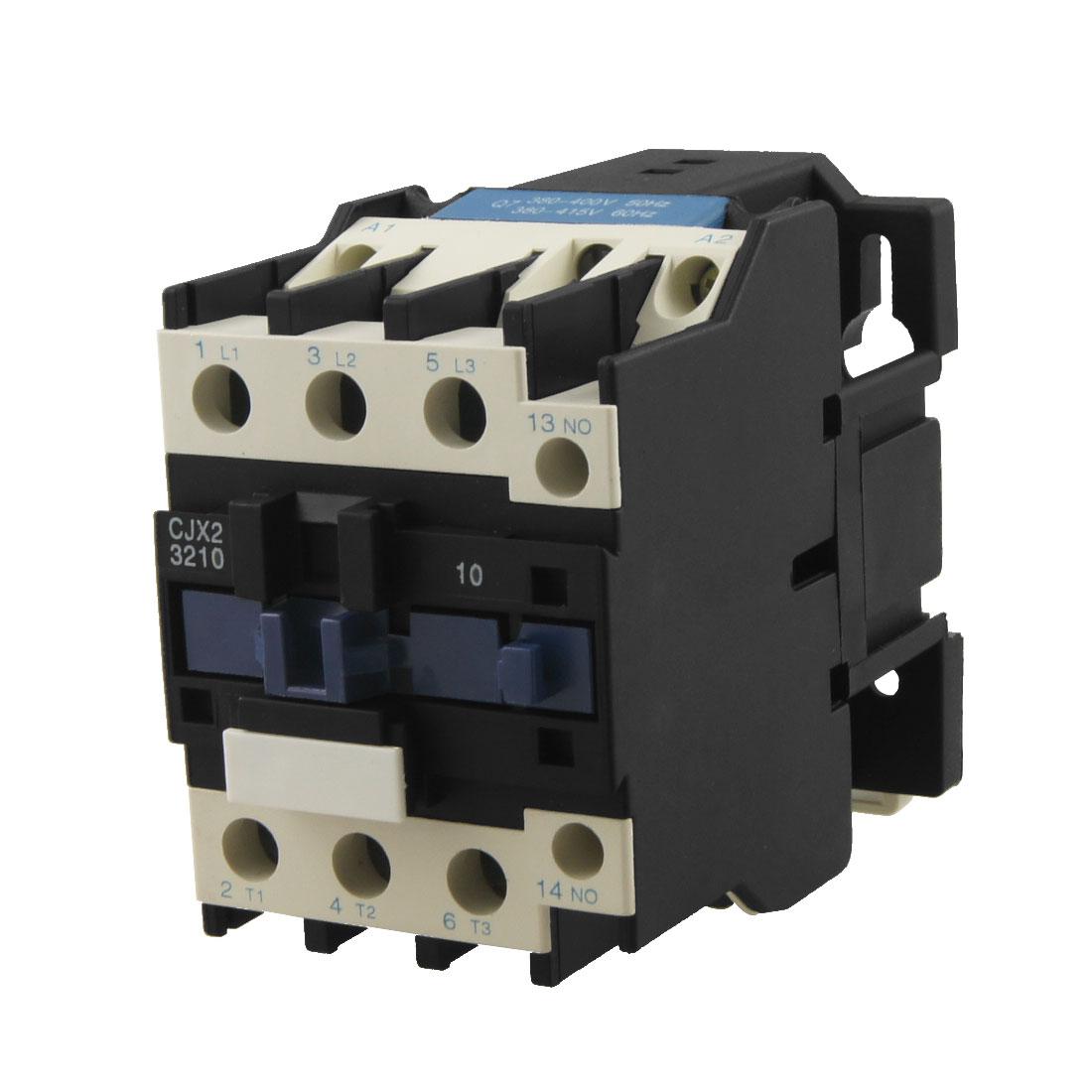 CJX2-3210 DIN Rail Mount Contactor 32A 3 Poles NO AC Coil 380 Volts