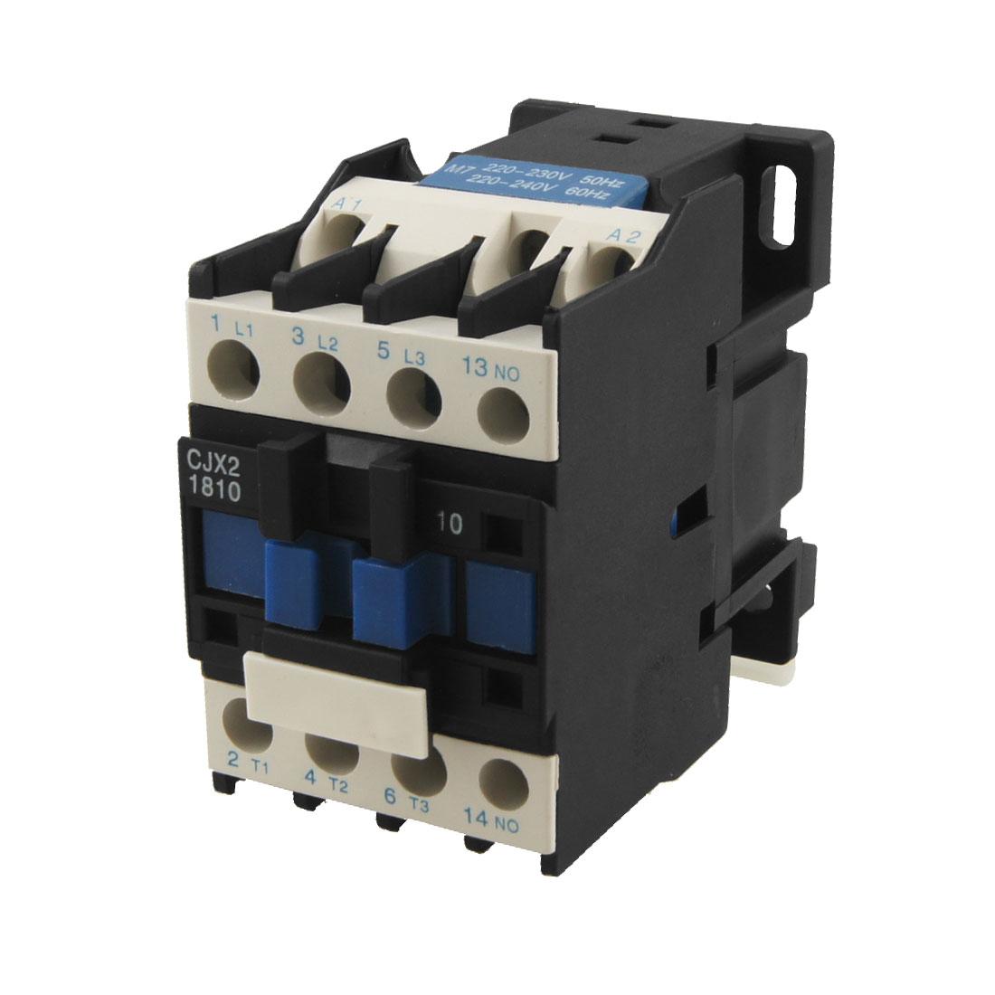 CJX2-1810 AC Contactor 18A 3 Phase 3-Pole NO 220V 50/60Hz Coil