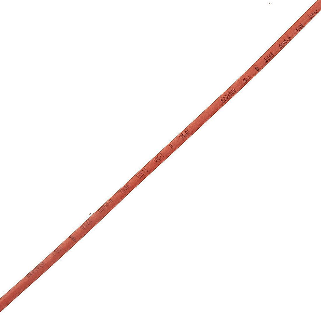 Red 1mm Dia Polyolefin Heat Shrinkable Sleeving Tube 10 Meters