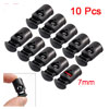10 Pcs Plastic Spring Stop Toggle Cord Locks End Black