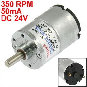 33mm Dia Permanent Magnetic Planet Gear Box Motor 350 RPM 50mA DC 24V